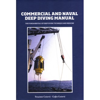 Titulní strana knihy Commercial and naval deep diving manual.