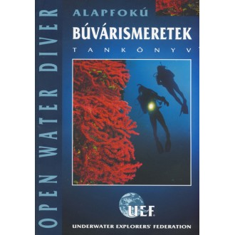 Titulní strana knihy Alapfokú búvárismeretek.