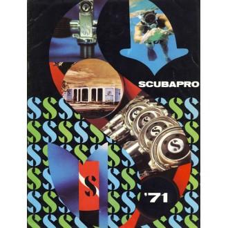 Katalog potápěčské firmy Scubapro z roku 1971.