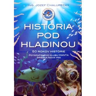 Titulní strana obalu knihy História pod hladinou.